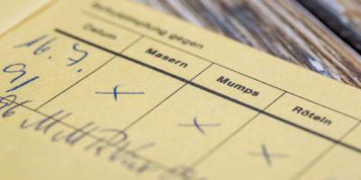 Deutsches Zertifikat für MMR-Impfung