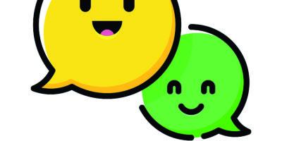 Vektorillustration eines Satzes von Sprechblasen-Emoticons