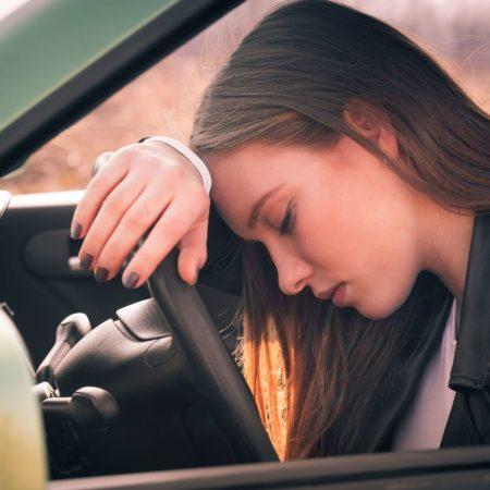 Schläfriger Fahrer