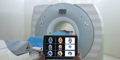 Digitale Tablet-Anwendung für Medical Scan