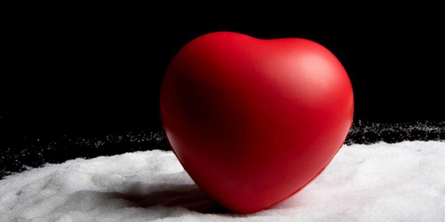 Gesundheitskonzept mit Herz auf Zucker für ein gesundes Leben