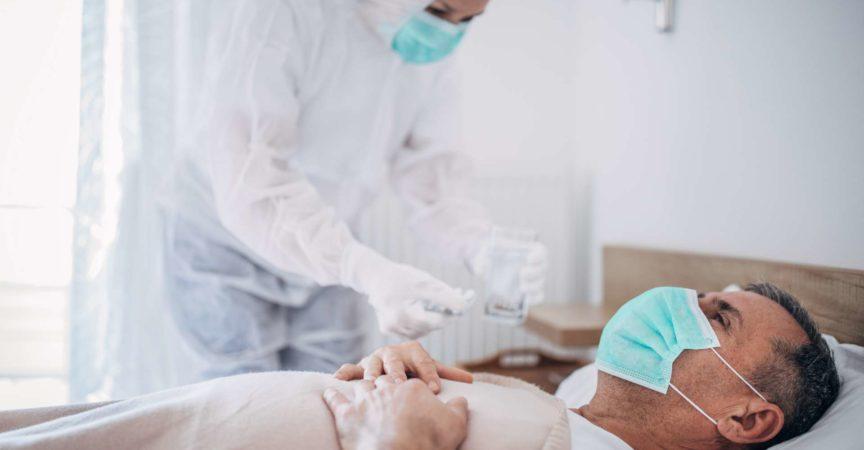 Patient mit COVID-19