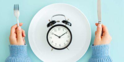 Blau, Frühstück, Uhr, Konzepte, Teller