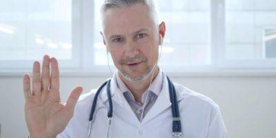Video-Chat mit dem Patienten durch den Arzt