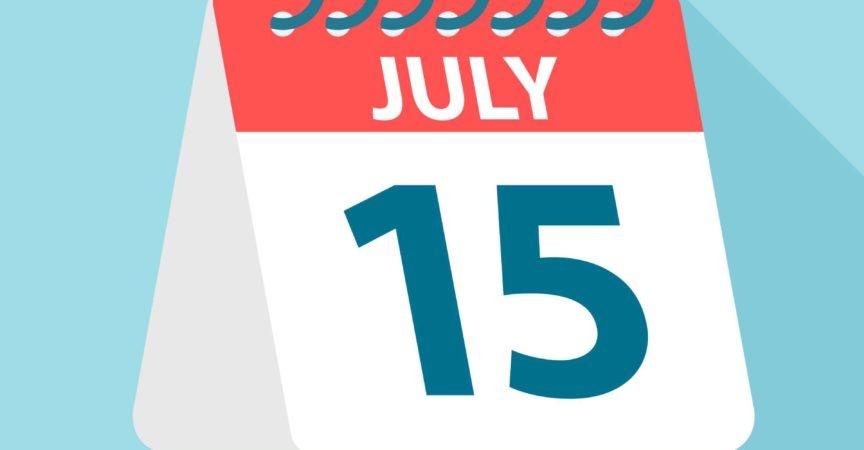 15. Juli - Kalendersymbol - Vektor-Illustration