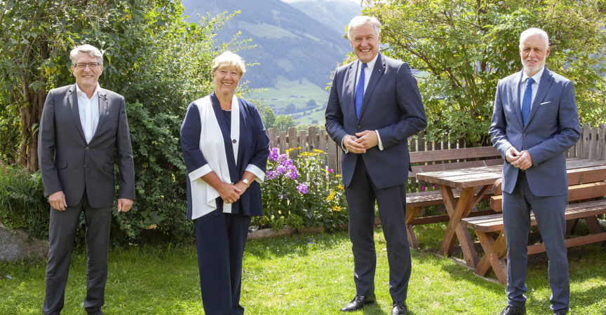 Die Teilnehmer am Gespräch in Alpbach