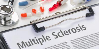 Die Diagnose Multiple Sklerose in eine Zwischenablage geschrieben