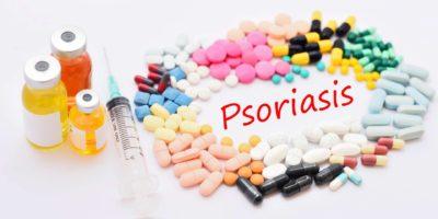 Medikamente zur Behandlung von Psoriasis, medizinisches Konzept