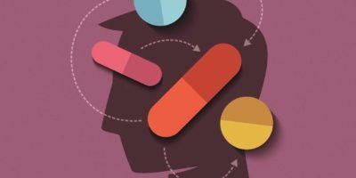 menschlicher Kopf mit Medizin