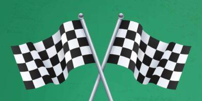 Zielflaggen.