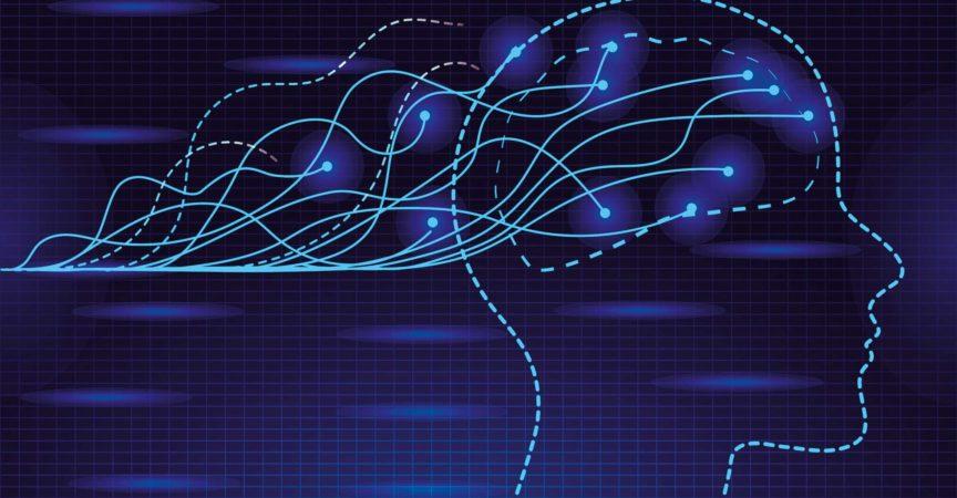 Epileptic, neurology health care. Migraine, terrible headache concept vector. The impulses in the brain.