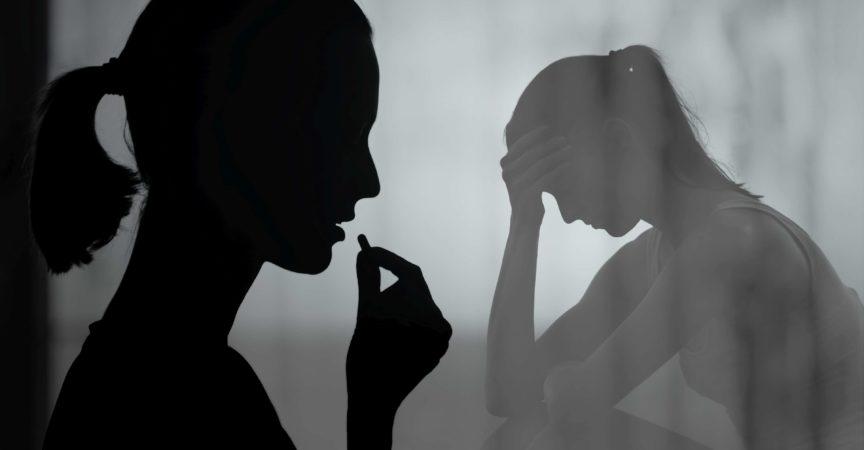 Depression, Drogenmissbrauch und Sucht Menschen Konzept.