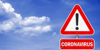 Coronavirus - Verkehrszeichen-Informationsnachricht
