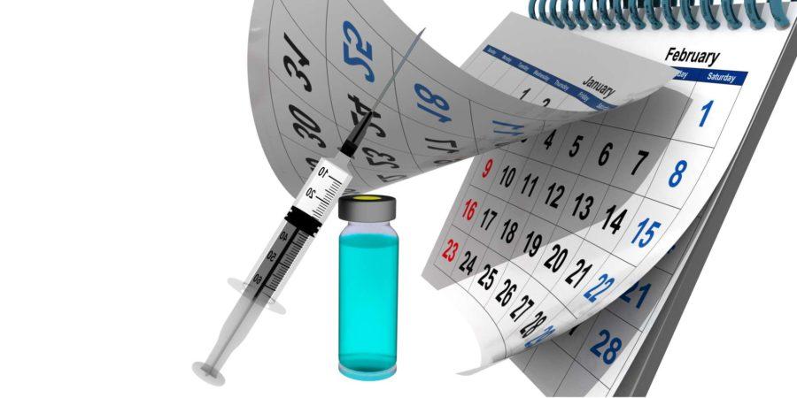 Covid-19 Impfung vor Kalender
