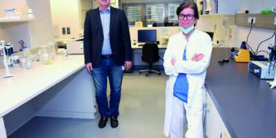 Culig und Pichler im Labor