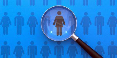 Human Resources Management und Recruitment Business Einstellung Lupenkonzept
