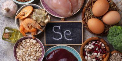 Gesunde Produktquellen von Selen. Essen reich an Se