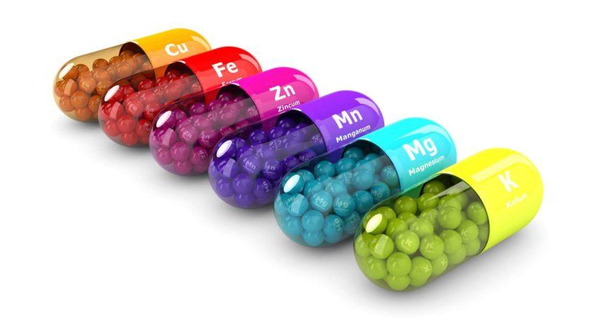 3D-Rendering von Nahrungsergänzungsmitteln isoliert auf weißem Hintergrund