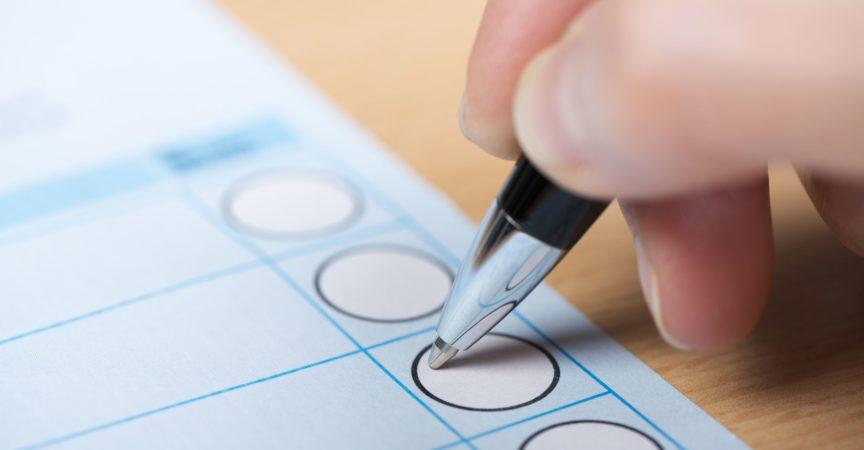 treffen Sie die Wahl auf einem Stimmzettel