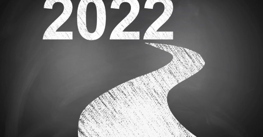 Wahlzieltafel für das neue Jahr 2022