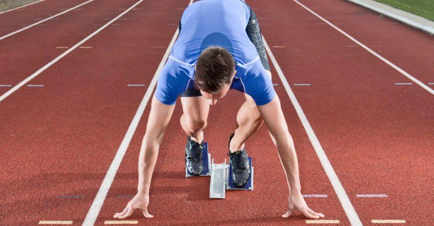 Sprinter am Startblock
