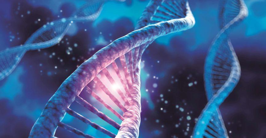 DNA-Sequenz, DNA-Codestruktur – Medizinische 3D-Illustration