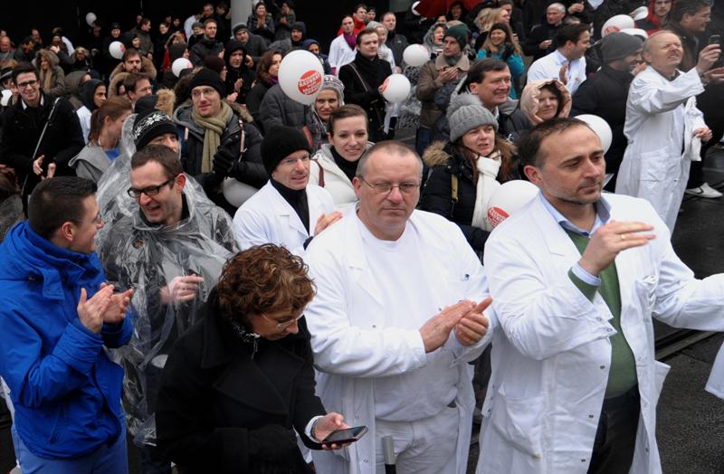 AKH-Protestkundgebung, Foto: Ärztekammer für Wien/Stefan Seelig