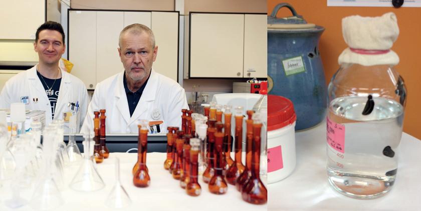 Die Qualitätskontrolle & Analytik (li.). Re: auf Tuchfühlung mit Blutegeln, die für Durchblutung & Gerinnung im Einsatz sind.