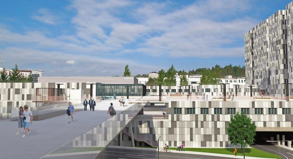 So soll der fertige Med Campus Graz letztendlich aussehen.