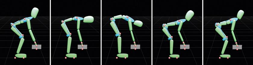 Das Exoskelett soll dabei unterstützen, mechanische Belastungen der Wirbelsäule auf die Beine umzuleiten.