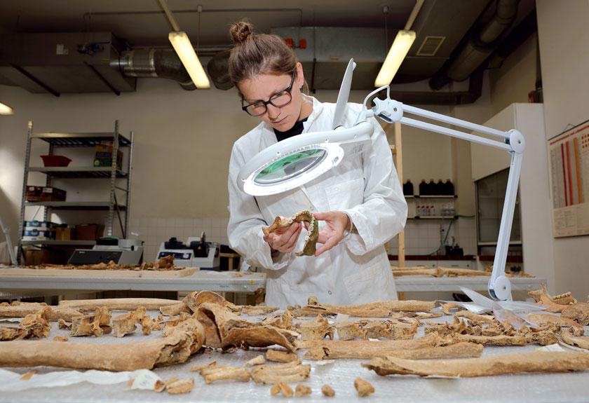 Michaela Binder fühlt 2000 Jahr alten Skeletten auf den Zahn.