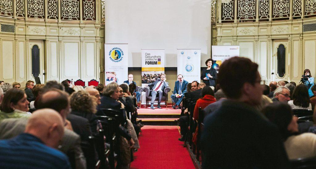 Am Gesundheitspolitischen Forum trafen Biach, Ostermann und Szekeres (v. l.) aufeinander – und damit unterschiedliche Weltbilder in Sachen PHC.
