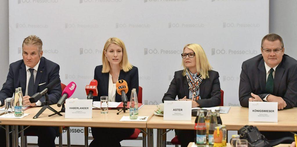V.l.n.r.: Lehner, Haberlander, Aster und Königswieser