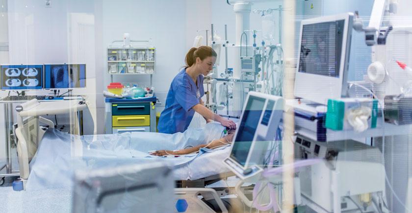 Infektionen auf Intensivstation: Das Risiko ist nicht völlig eliminierbar.