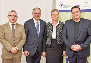 V.l.n.r.: Helmut Köberl, Alois Stöger, Eva Schrott, Mario Wintschnig