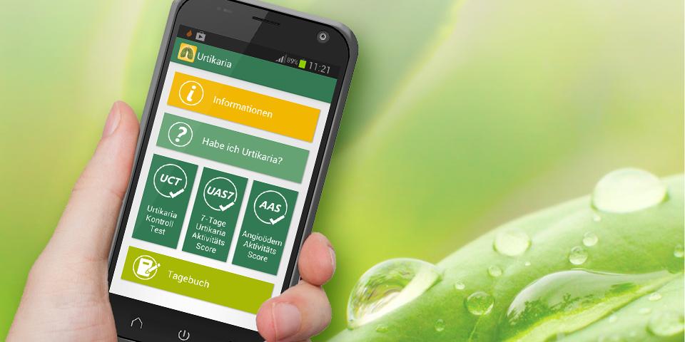 Urtikaria-App der Lungenunion