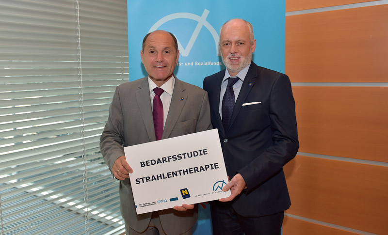 Der NÖ Landeshauptmann-Stellvertreter Mag. Wolfgang Sobotka und der NÖ Patientenanwalt Dr. Gerald Bachinger fordern eine österreichweite Bedarfsstudie zur Strahlentherapie