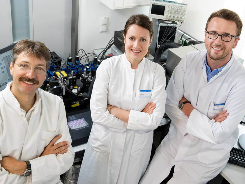 Prof. Dirk Busch, Patricia Gräf und Veit Buchholz