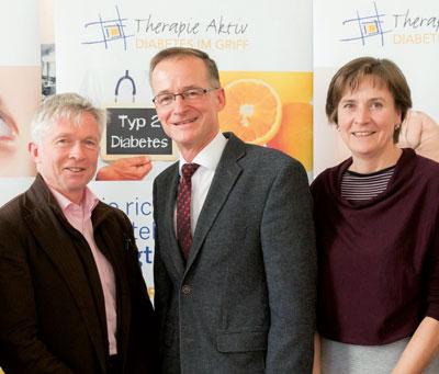 """Prof. Wascher, Prof. Pongratz und Dr. Rabady (v. l.) wollen mehr Kollegen für """"Therapie Aktiv"""" gewinnen."""