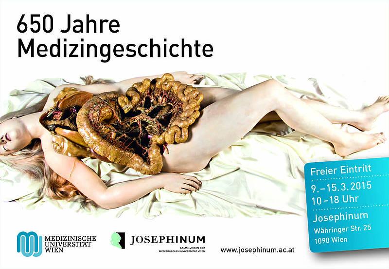 """Im Rahmen des Jubiläums """"650 Jahre Medizingeschichte"""" öffnet das Josephinum von 09.03.2015 - 15.03.2015 seine Türen und ist eine Woche lang mit freiem Eintritt für Besucher zugänglich. Geöffnet hat die aktuelle Ausstellung """"Unter die Haut"""" sowie die Wachsmodellsammlung."""