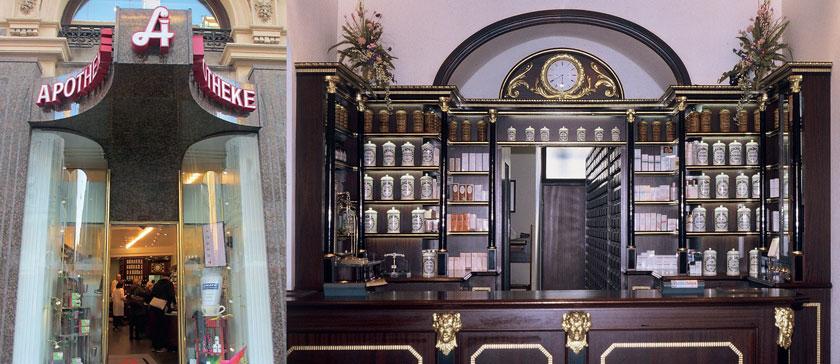 Auf Wiens Prachtboulevard steht die zweitälteste Apotheke der Stadt.