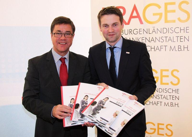 Gesundheits- und Soziallandesrat Dr. Peter Rezar und KRAGES-Geschäftsführer DI(FH) Mag. René Martin Schnedl