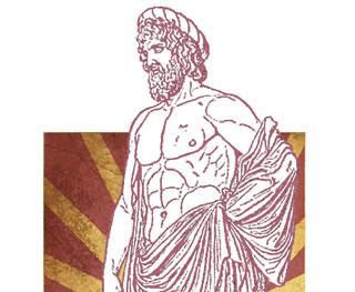 Asklepios (lat. Aesculapius, dt. Äskulap): der Gott der Heilkunst aus der griechischen Mythologie