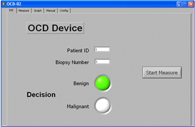 Die Software zeigt an, dass das Gewebe karzinomfrei ist.