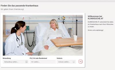 Die Webplattform kliniksuche.at des Gesundheitsministerium wird laufend ausgebaut. Die Grundlage dafür bilden die Daten aus A-IQI.