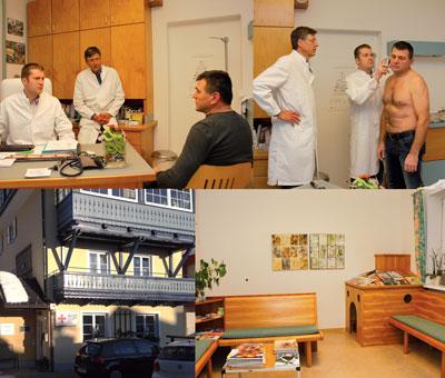 Während MT zu Besuch war, versorgte Mag. Dr. Christian Staufer einen Patienten, der die Ordi aufsuchte. Wie früher überzeugte sich Dr. Peter Kowatsch davon, dass der junge Kollege alles richtig machte.