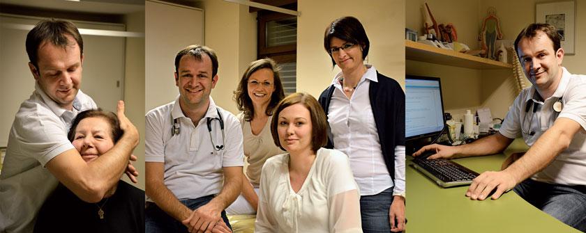 Dr. Stanek – in der Mitte mit Ordinationsassistentin Monika Kleindienst, Ordinationsassistentin Mag. Gudrun Lukas, Diätologin Andrea Haring (v.l.n.r.) – ist es wichtig, als Wahlarzt auch Spezialleistungen anzubieten.