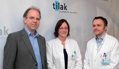 Univ.-Prof. DDr. Johannes Zschocke, Univ.-Prof. Dr. Daniela Karall und Dr. Michael Rudnicki vom Innsbrucker Zentrum für Seltene Krankheiten.
